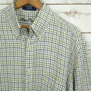Alan Flusser Plaid Linen Button Down Oxford